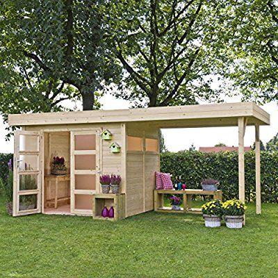 Nichoir Avec Pergola En Bois Vermont 603 X 245 Cm Amazon Fr Jardin Garden Patio Furniture Building A Cabin Garden Shed