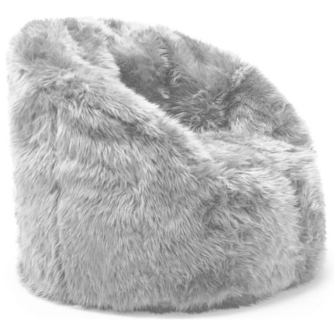 Elegant Comfort Research BeanSack Big Joe Milano Faux Fur Bean Bag Chair (Ivory Faux  Fur), Beige Off White, Size Large (Poly Synthetic Fiber) | Fur Bean Bag,  Bean ... Idea