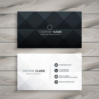 Download Modern Black And White Business Card Design For Free