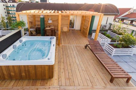 24 Jacuzzi Rooftop Ideas Rooftop Jacuzzi Outdoor Design