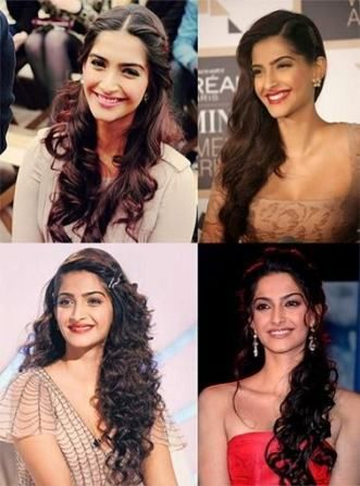 33 Trendy Hairstyles Indian Simple Open Open Hairstyles Cool Hairstyles Sonam Kapoor Hairstyles