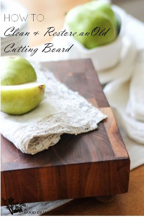 How To Clean & Restore an Old Cutting Board by The Wood Grain Cottage