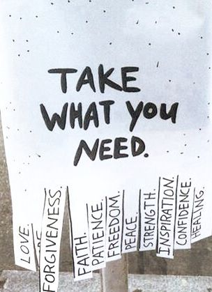 Neat idea to possibly have students create...share the positive words!