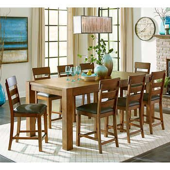 Rushmore 9 Piece Counter Height Dining Set Counter Height Dining Sets Dining Set Counter Height Table