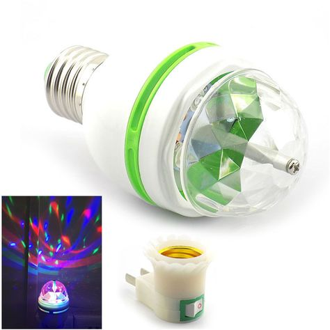 1 Led Mini Stage Disco Dj Light Party Ball Bulbs Auto Rotating Rgb Lamp Us Adapter Ebay Home Garden Dj Lighting Ball Lights Bulb