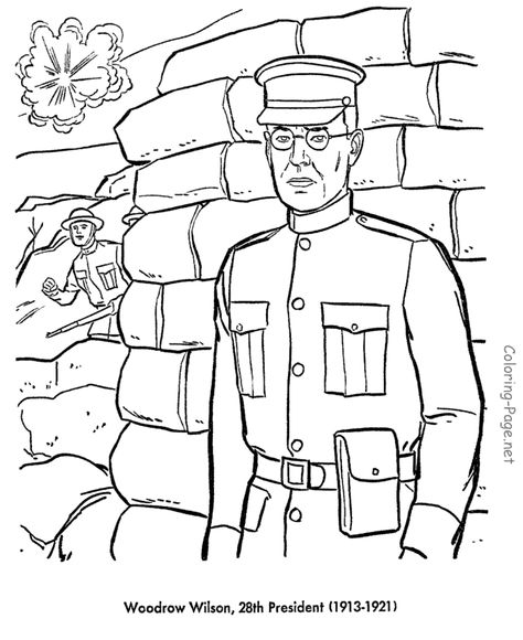 Bluebonkers : US Presidents Coloring Pages - President Andrew ... | 580x474
