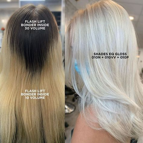 Toner For Blonde Hair, Hair Toner, Balayage Hair Blonde, Brown Blonde Hair, Redken Toner, Redken Hair Color, Platinum Blonde Highlights, Redken Hair Products, Hair Color Formulas