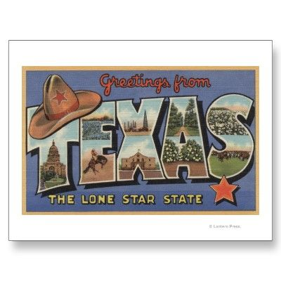 Personalized Postcards - Texasgreetings From The Lone Star State; 8 Postcards - Zazzle Custom Postcards