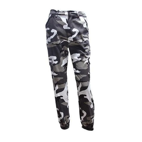 Autumn Camo Pants Cargo High Waist Thick Loose High Rise Casual Women – geekbuyig