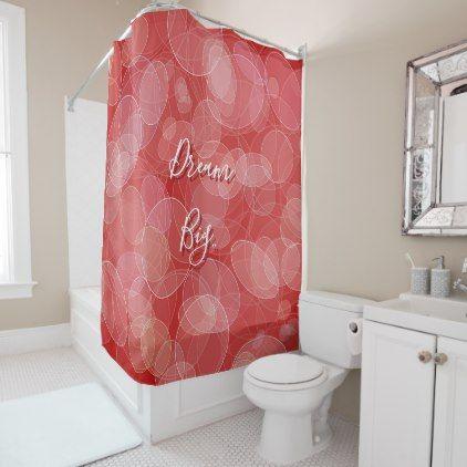 Dream Big Bokeh Red Texture Shower Curtain Zazzle Com Red Curtains Shower Curtain Curtains