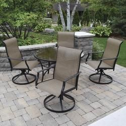 Set The Scene With The Subtle Yet Refined Look Of The Taylor Dining Collection The Understated Design Of T Patio Patio Furniture Collection Backyard Creations