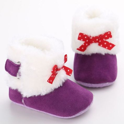 Toddler Infant Kids Baby Girls Fashion Butterfly Knot Princess Shoes Boots