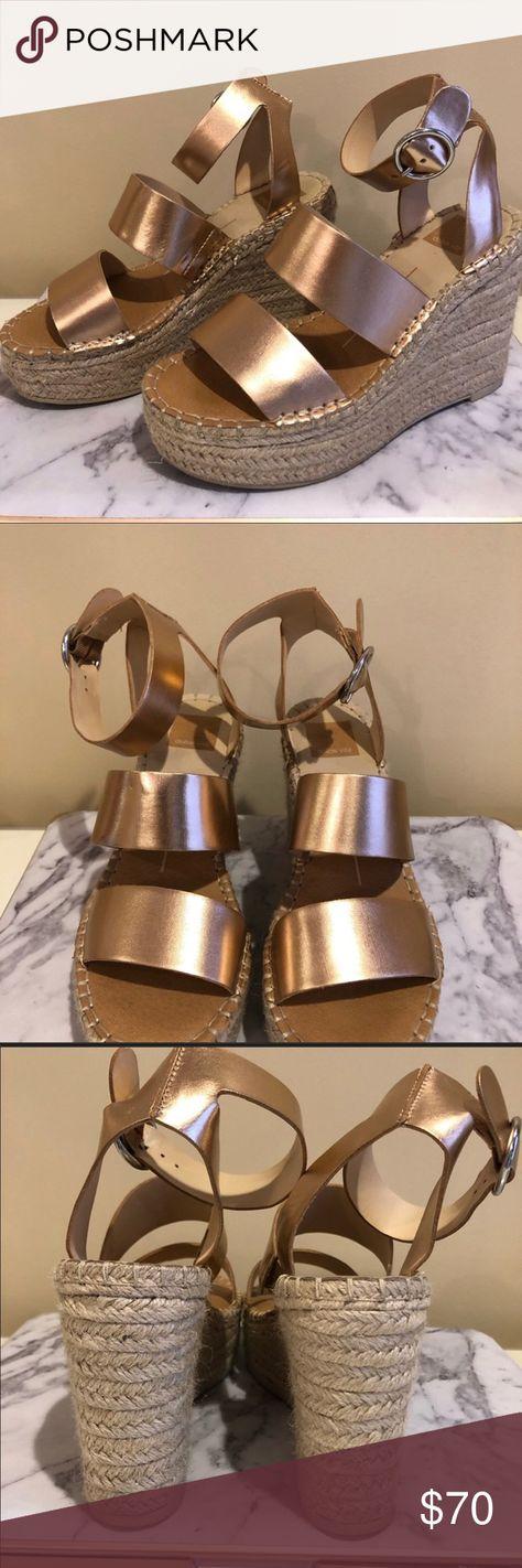 d1e1fec3820d Dolce Vita Rose Gold Shaun Platform Wedge Sandal True to size. - Open toe -