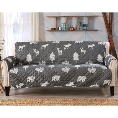 Charlton Home T Cushion Sofa Slipcover Furniture Slipcovers