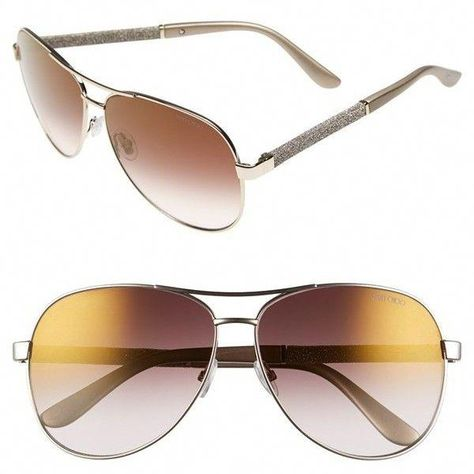 e4e7a3bd030 Women s Jimmy Choo  Lexie  61Mm Aviator Sunglasses ( 268) ❤ liked on  Polyvore featuring accessories