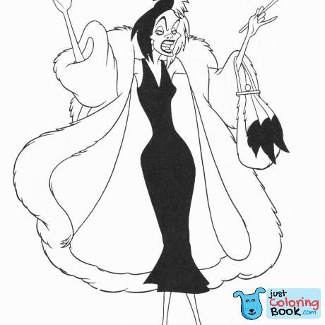 Disney Villain Coloring Pages Coloring Pages Disney Throughout Pongo And Perdita Portrait C Halloween Coloring Pages Halloween Coloring Disney Coloring Pages