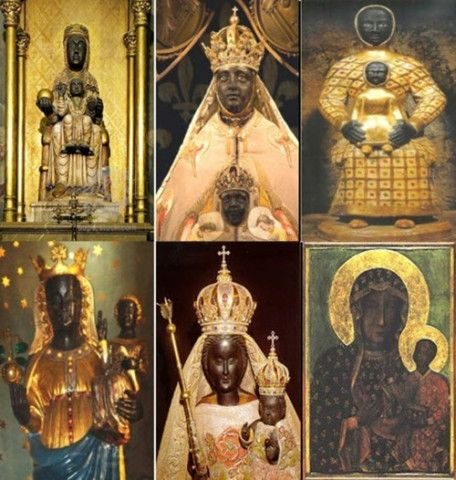 Why is there a need to keep the history of the Black Madonna secret? Medieval depictions of Black Madonna, a. The Virgin Mary. Madonna, World History, Art History, History Education, History Books, Kings & Queens, Rose Croix, Black Hebrew Israelites, La Madone
