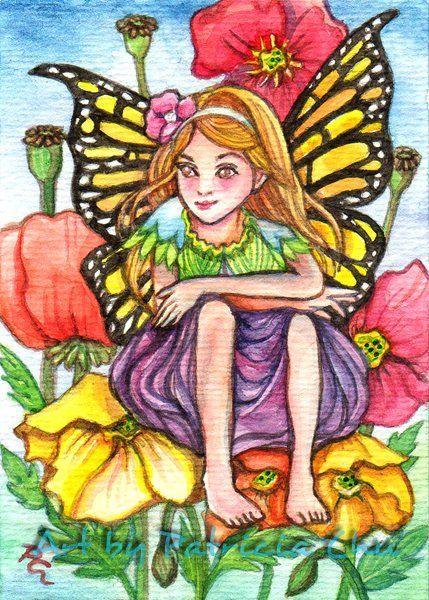 "ACEO LE Art Card Print 2.5x3.5/"" /"" Feather Magic/"" Fantasy Art by Patricia"