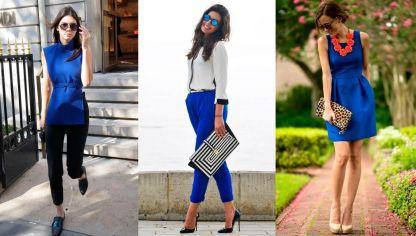 Como Combinar Los Colores De Ropa Hogarmania Color Azul Electrico Vestidos Azul Electrico Ropa
