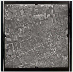 1938 Mineola Aerial North Of Roosevelt Field Aviation Carle Place Stony Brook University Long Island Black And White Aerials Collecti