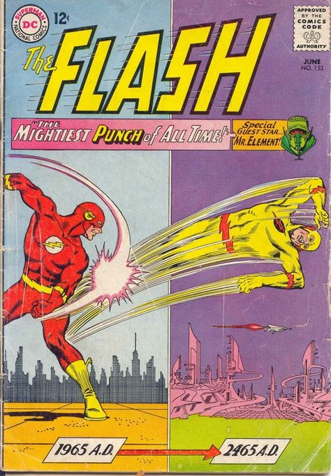 The Flash #153, June 1965, cover by Carmine Infantino and Murphy Anderson.
