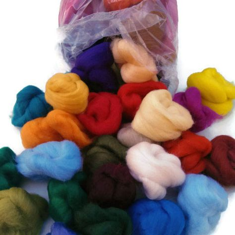 Felting wool//Wool Roving Choose your own colours 70 colours available