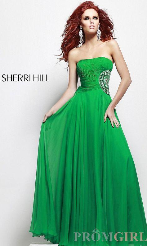 9fdd111d51 Floor Length Strapless Sherri Hill Dress