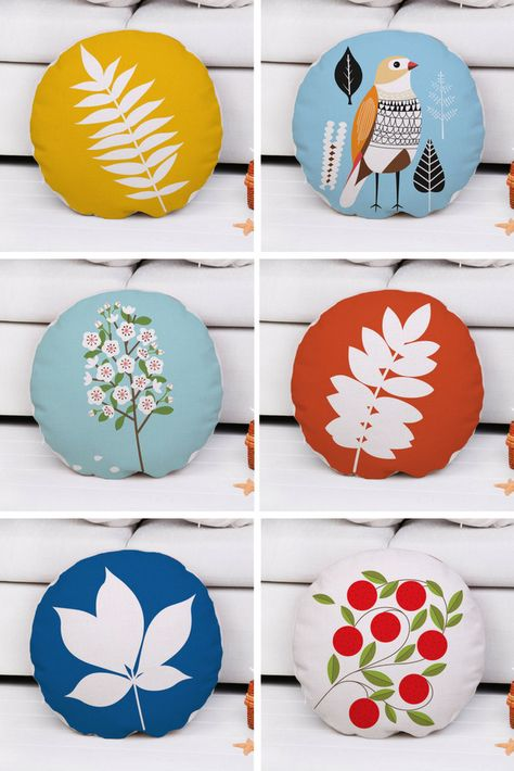 Decorative Throw Cushion Cover Cotton Round Pillow Case Home Decor Inspiration Round Pillow Cover Tutorial