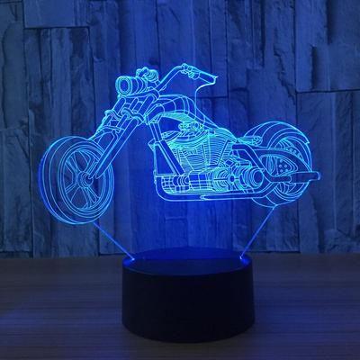 3d Harley Davidson Inspired Motor Illusion Lamp Plus Free Biker Plate Led Lamp Motorcycle Design Night Lamps