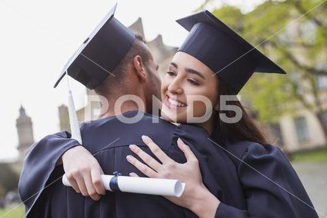 Happy graduate enjoying precious moments Stock Photo #90326695