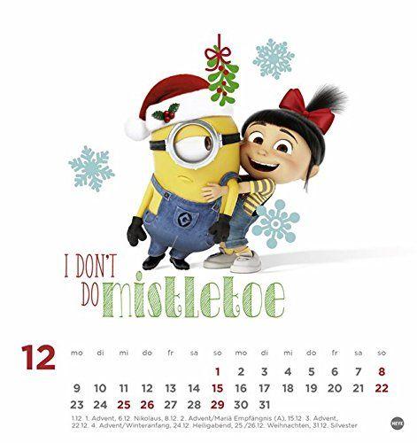 Minions Postkartenkalender Kalender 2019 Ad