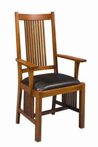 Amish Woodland Mission Dining Chair Amish Woodland Mission Dining Chair Mission S Mission Style Furniture Dining Room Arm Chairs Solid Wood Dining Room Chairs