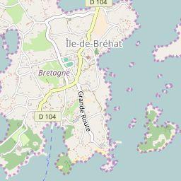 Ile De Brehat Carte Des Sentiers De Randonnee Vacances