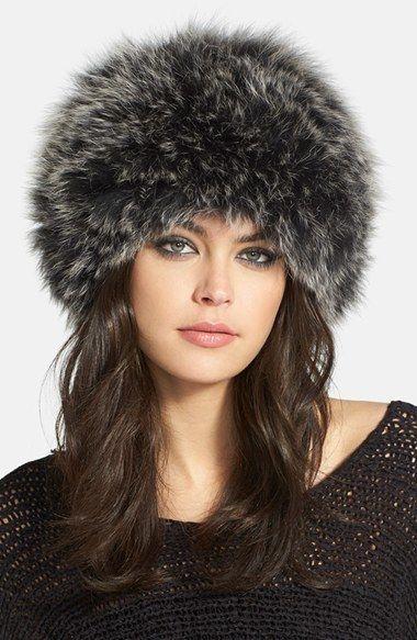DENA Genuine Fox Fur Bubble Hat