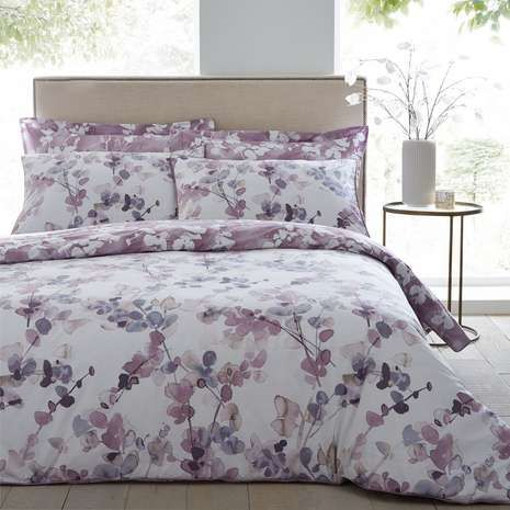 NEW Purple Paisley Reversible Printed Bedding Duvet Cover Pillowcases All Sizes