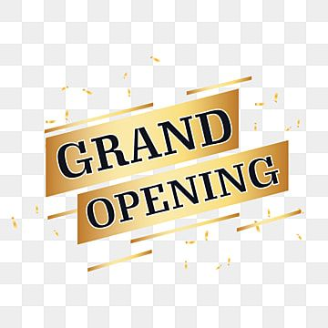 Golden And Black Grand Opening Vector Shop Open Grand Open Png And Vector With Transparent Background For Free Download Grand Opening Business Poster Ribbon Invitation