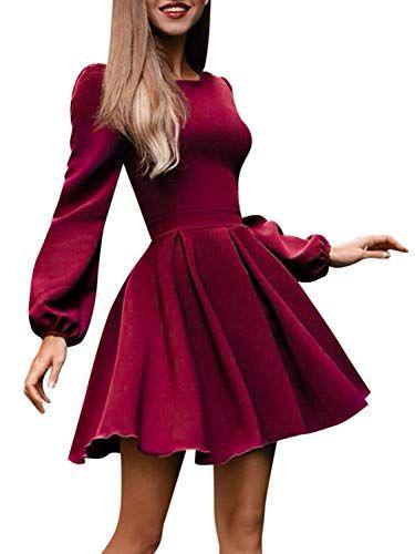 Elegantes Damen Plissiertes Minikleid