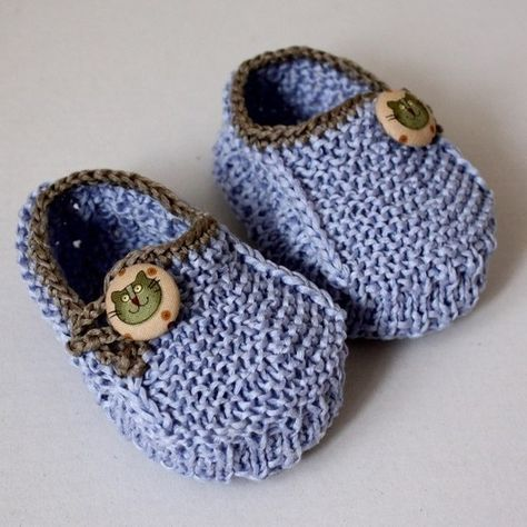 Cute, cute knitting patterns for baby shoes found here.