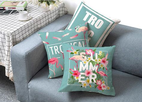 Miraculous Flamingo Tropical Blue Pink Decorative Throw Pillows Bralicious Painted Fabric Chair Ideas Braliciousco