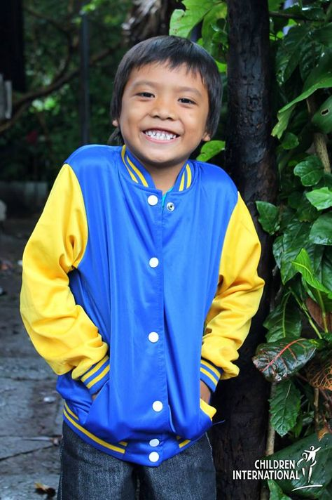 Malco from the philippines loves his new jacket an easter gift he malco from the philippines loves his new jacket an easter gift he received from children international malcos family cannot afford to buy gift negle Image collections