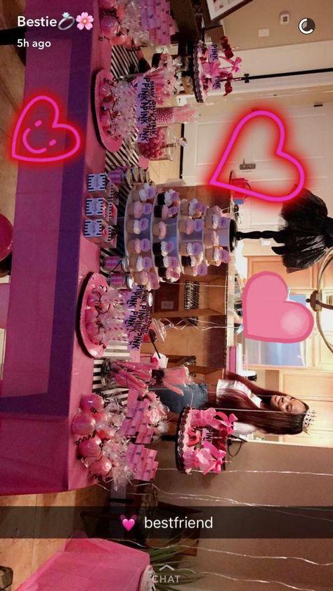 Victoria secret party Victoria secret party - Flight, Travel Destinations and Travel Ideas 17th Birthday Gifts, Sleepover Birthday Parties, Birthday Party For Teens, Pink Birthday, Happy Birthday, Birthday Bash, Birthday Party Decorations, 18th Birthday Party Ideas For Girls, Victoria Secret Party