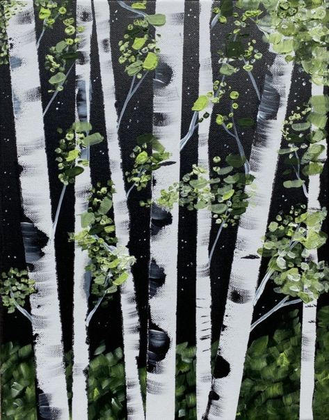 How To Paint Birch Trees - Easy Step By Step Painting Tutorial