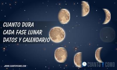 Cuanto Dura Cada Fase Lunar Lunares Calendario Lunar 2018 Luna Menguante