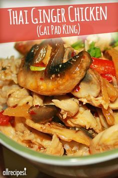 Thai ginger chicken with rice gai pad king recipe ginger thai ginger chicken gai pad king this was an amazing dish forumfinder Image collections