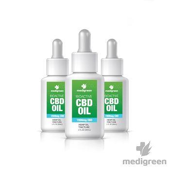 MediGreen Bioactive CBD Hemp Oil Tincture – 1500mg CBD (30ml