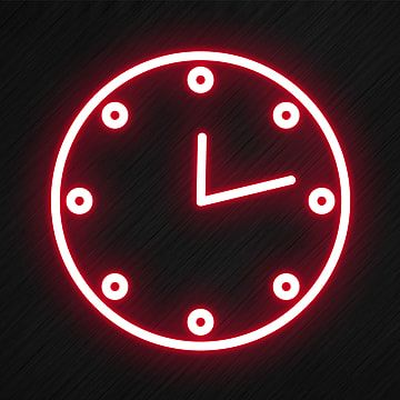 Clock Icon In Neon Style Clock Clipart Clock Icons Style Icons Png Transparent Clipart Image And Psd File For Free Download Clock Icon Wallpaper Iphone Neon Light Icon Aesthetic clock wallpaper free download