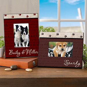 Man S Best Friend Personalized Frame Dog Picture Frames Mans