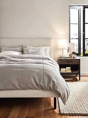Ella Custom Upholstered Bed Modern Custom Beds Platform Beds