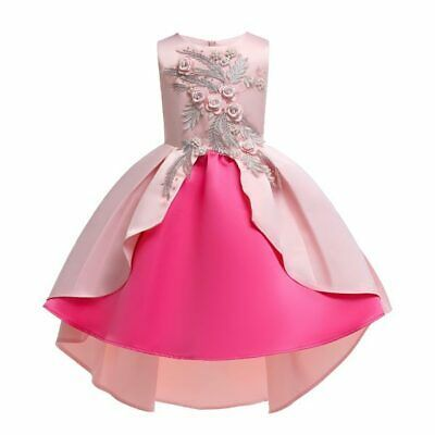 Tutu Baby Flower Dress Bridesmaid Party Formal Dresses Wedding Princess Kid Girl