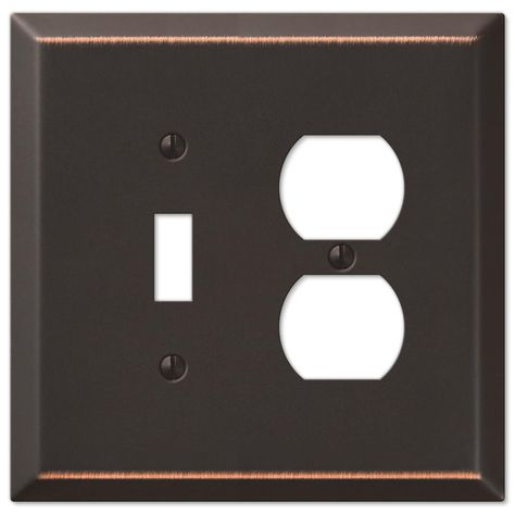 Amerelle Oversized 1 Toggle 1 Duplex Wall Plate Aged Bronze Plates On Wall Switch Plate Covers Switch Plates